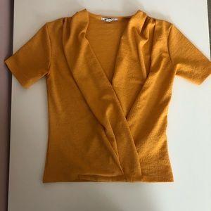 ZARA yellow blouse SIZE SMALL